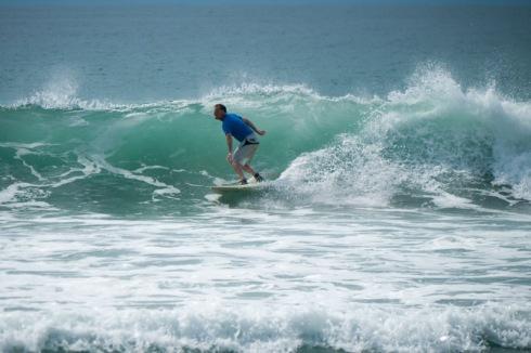 Surfer smiling