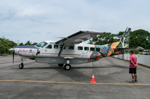 Our plane in Puerto Jiménez airfield