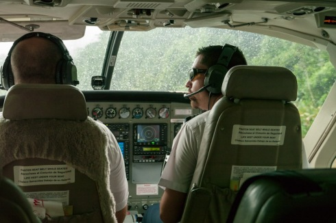 Pilots preparing to take off from Golfito