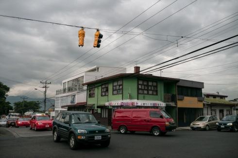 Alajuela traffic lights, traffic, colours