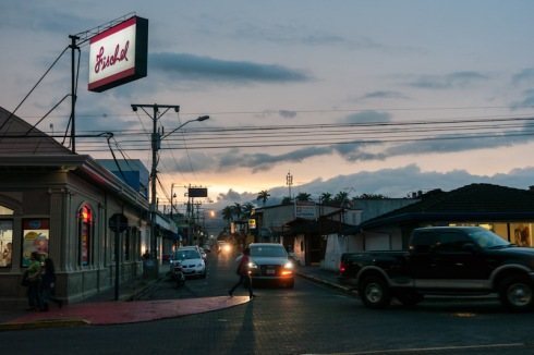 Alajuela. Sunset.