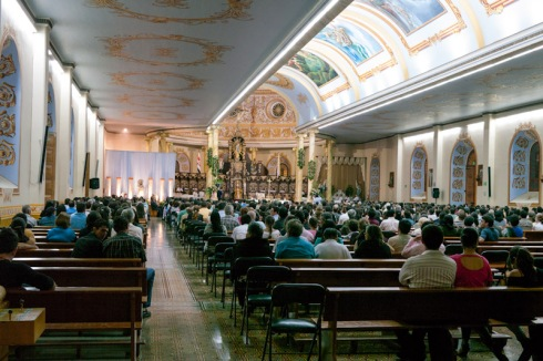 Mass in Alajuela Cathedral