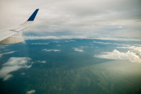Bye bye Costa Rica, view from plane