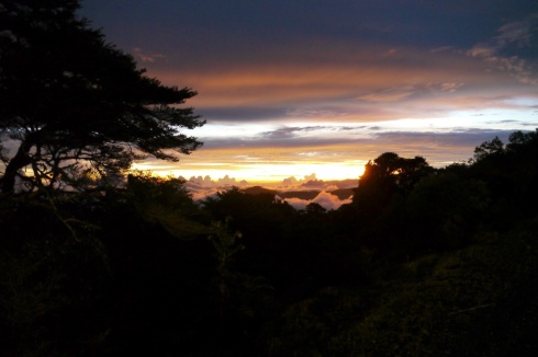 El Cerro de la Muerte, sunset