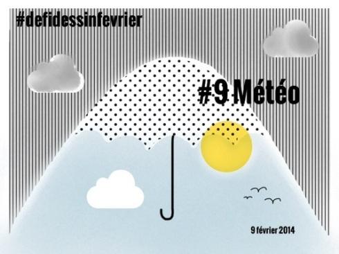 #defidessinfevrier jour 9, météo
