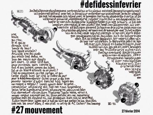 #defidessinfevrier jour 27, mouvement