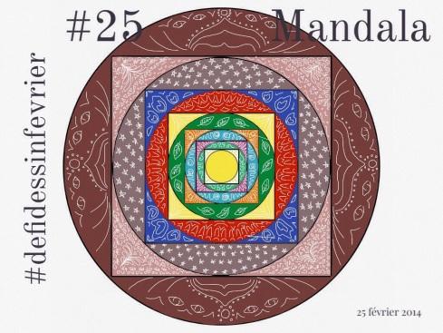 #defidessinfevrier jour 25, mandala