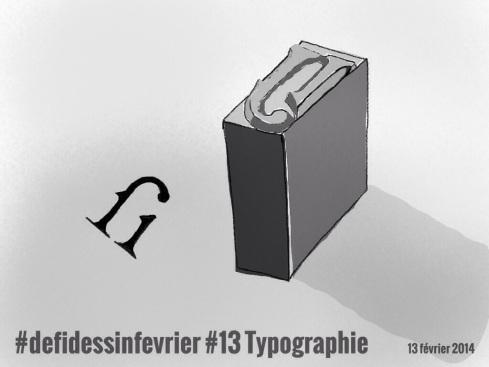 #defidessinfevrier jour 13, typographie
