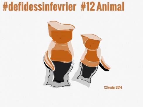 #defidessinfevrier jour 12, animal