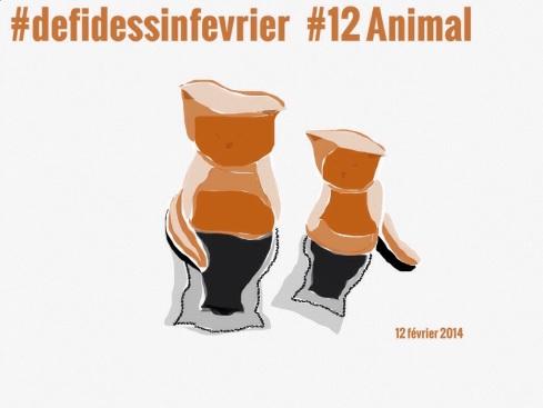 #defidessinfevrier jour 12, animal