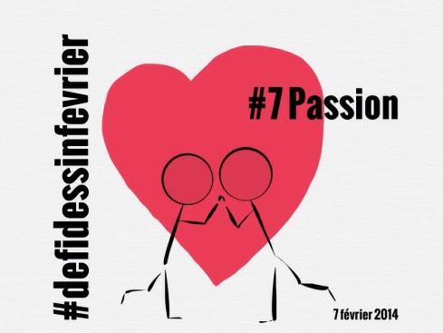 #defidessinfevrier jour 7, passion