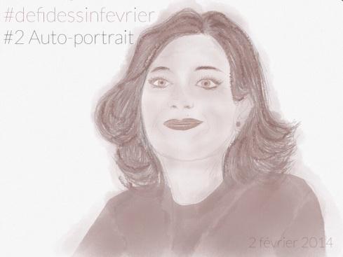 #defidessinfevrier jour 2 Auto-portrait