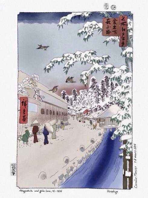 Hiroshige's Atagoshita and Yabu Lane