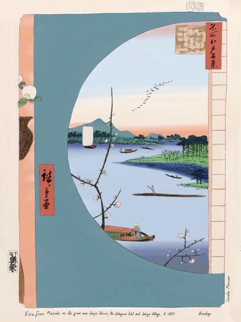 Hiroshige's View from Massaki, 1857