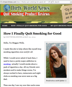 screenshot of a website where I'll help you stop smoking