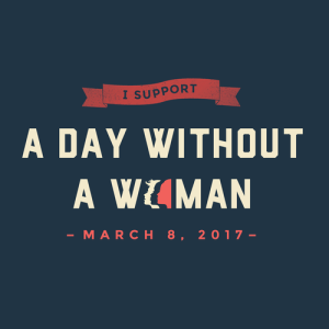 I support a day without a woman logo