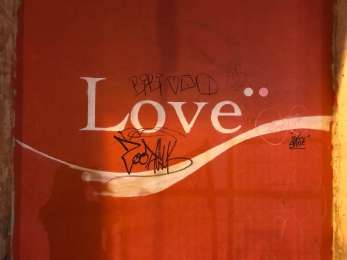 love written on a wall