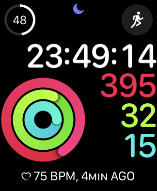 Screenshot of my closed activity rings