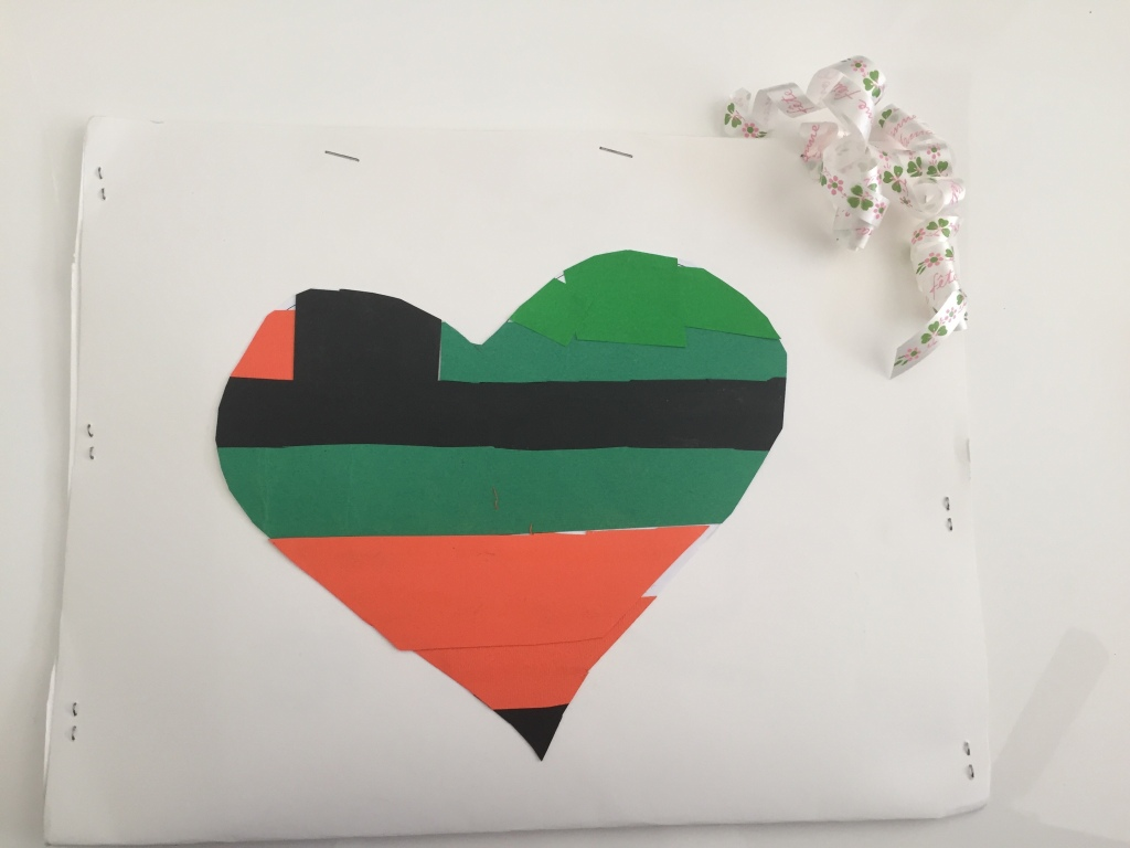 Heart shape filled with color